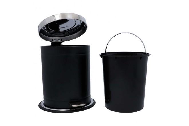 Papelera de Pedal/Caneca de basura FREE HOME Negro Mate - 5 Litros (Canecas)-2