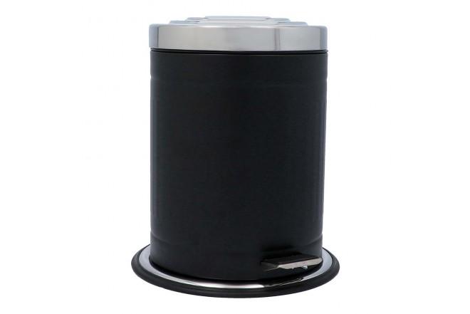 Papelera de Pedal/Caneca de basura FREE HOME Negro Mate - 5 Litros (Canecas)-1