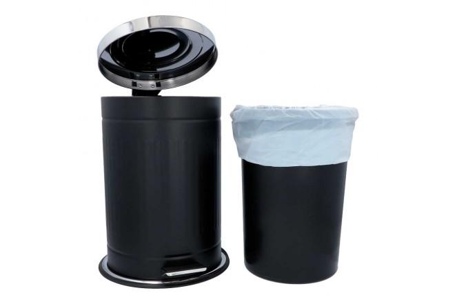 Papelera de Pedal/ Caneca de basura FREE HOME Negro Mate - 12 Litros (Canecas)-3