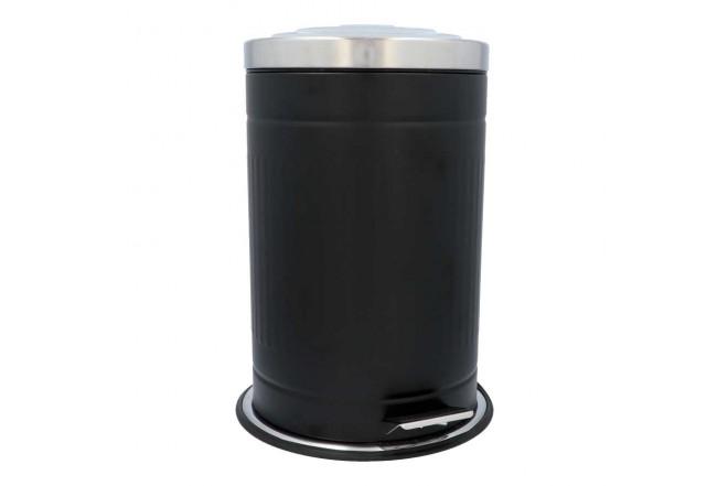 Papelera de Pedal/ Caneca de basura FREE HOME Negro Mate - 12 Litros (Canecas)-1
