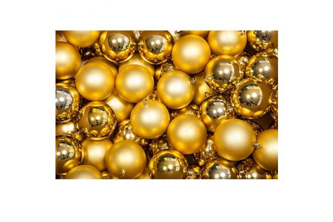 Esferas juegos x 100 Dorado 8 cm