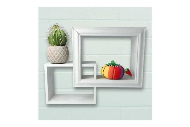 Repisa Flotante FREE HOME de pared Set x 2 Blanco (Portarretratos y Cuadros)-6