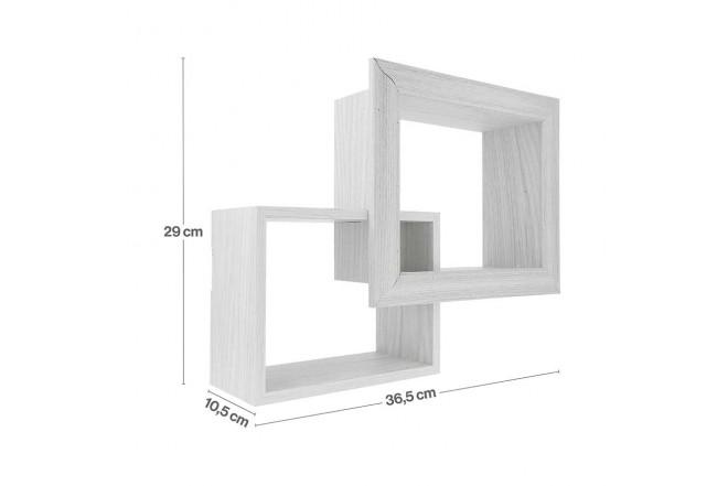 Repisa Flotante FREE HOME de pared Set x 2 Blanco (Portarretratos y Cuadros)-3