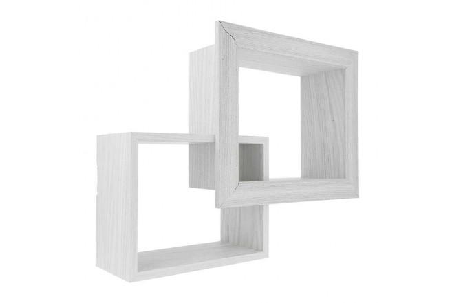Repisa Flotante FREE HOME de pared Set x 2 Blanco (Portarretratos y Cuadros)-2