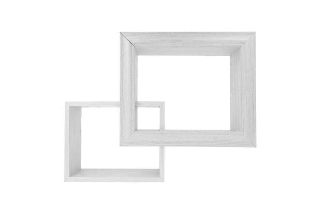 Repisa Flotante FREE HOME de pared Set x 2 Blanco (Portarretratos y Cuadros)-1