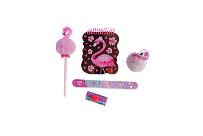 Set Libreta con Accesorios Flamingo