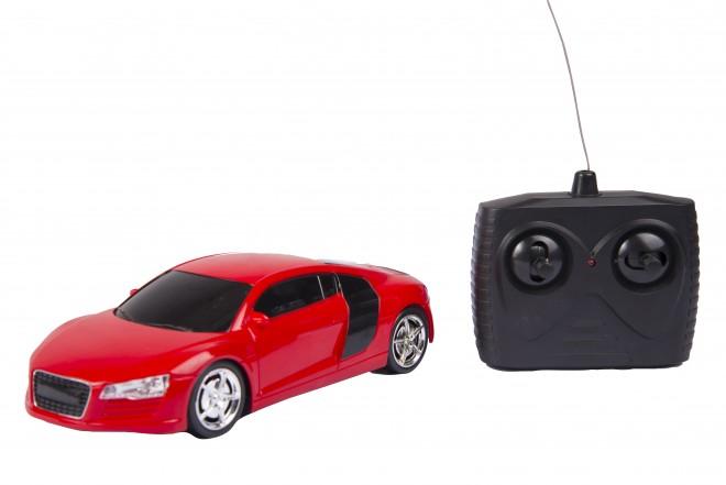 Auto deportivo radio control escala 1:24 Happy Line Rojo