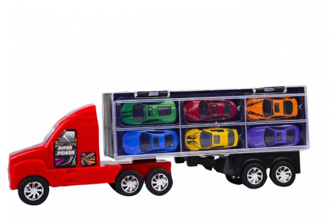 Camión transportador 6 vehículos Happy Line Rojo