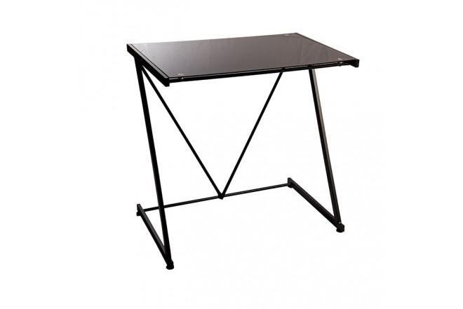 Mesa escritorio tukasa vidrio negra alkosto tienda online - Mesa escritorio negra ...