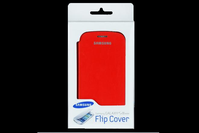 Flip Cover SAMSUNG S3 Mini Naranja