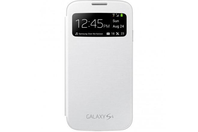 Flip Cover SAMSUNG Blanco para Galaxy S4 con Ventana