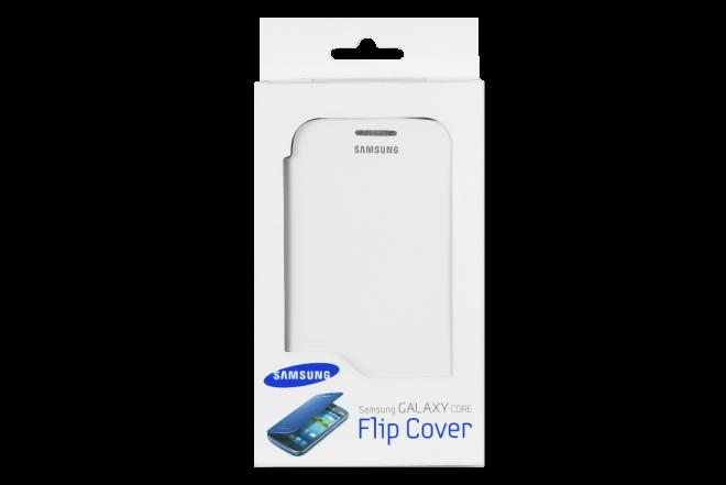 Flip Cover SAMSUNG Galaxy Core Blanco