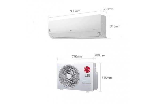 Aire Acondicionado LG 18000 BTU Tipo Split Inverter Dual Cool 220V Blanco102
