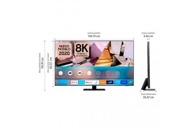 "TV SAMSUNG 65"" Pulgadas 156 Cm 65Q700T QLED 8K Plano Smart TV3"