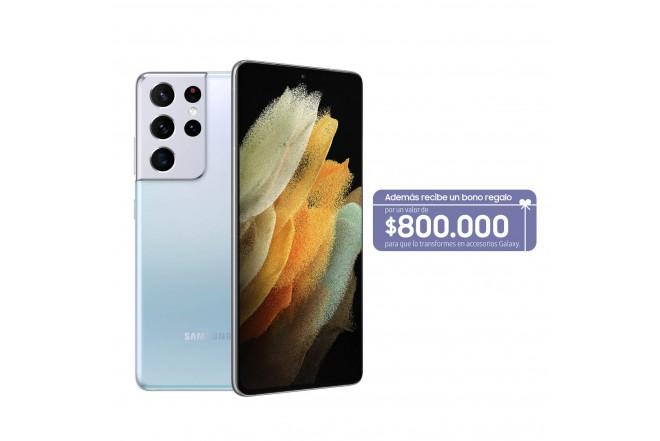 Celular SAMSUNG Galaxy S21 Ultra 256GB Plateado-0