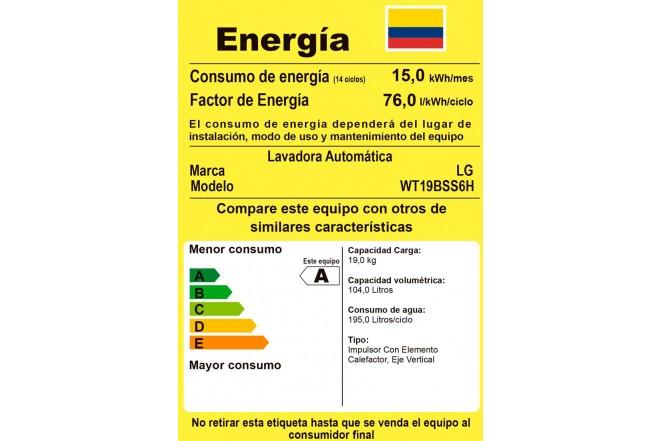 Lavadora LG 19 Kg WT19BSS6H Negro9