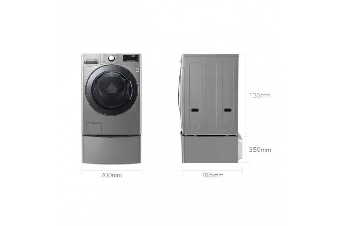 Set Twin Wash LG Twd22Vv2S Gris102