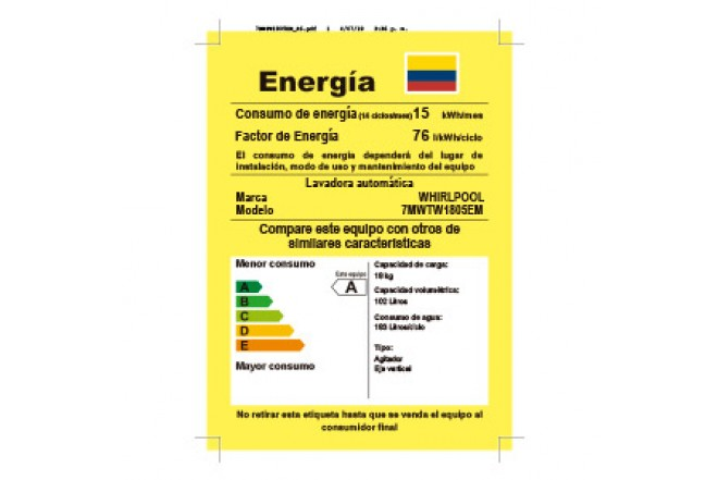Lavadora WHIRLPOOL 18Kg 7MWTW1805EM Blanco34