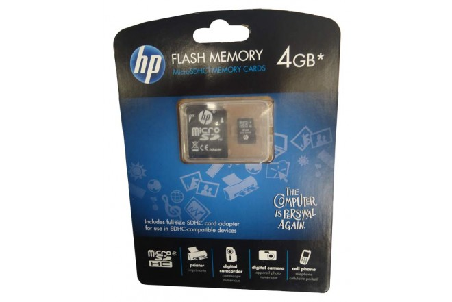 Micro SD HP 4GB Adap