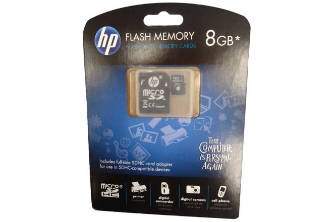 Memoria Micro SD HP 8GB Adap