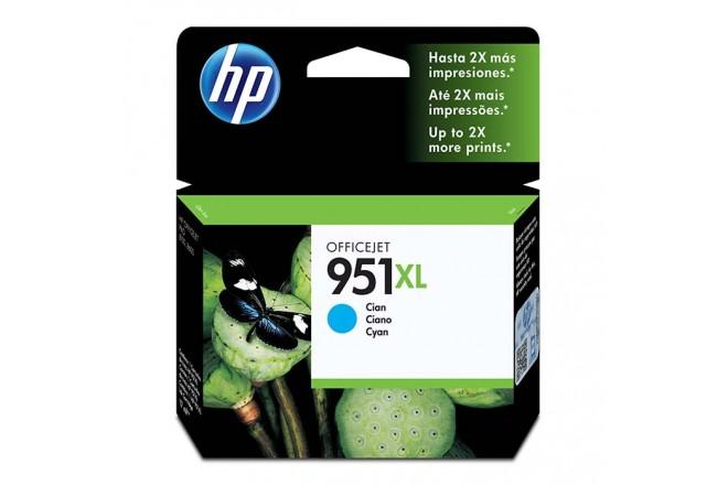 Cartucho de tinta HP 951XL Cian Original CN046AL