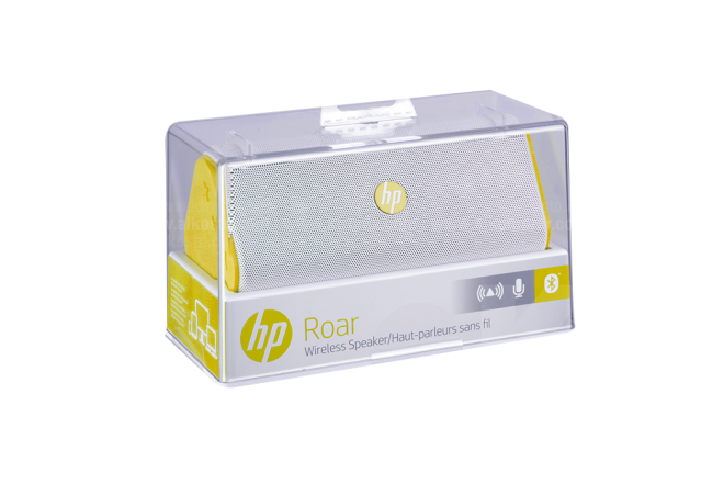 Parlante HP Roar Bluetooth Amarillo