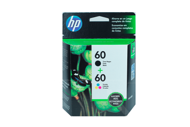 Tinta TwinPack HP 60 Negro + Tricolor