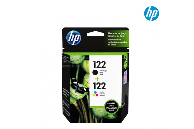 Tinta TwinPack HP 122 Negro - Tricolor
