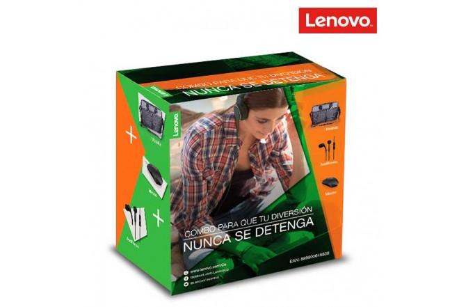 Combo LENOVO Maletín + Mouse + Audífonos InEar