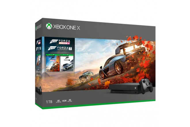 Consola Xbox One X 1TB + Forza Horizon 4 + Forza Motorsport 71