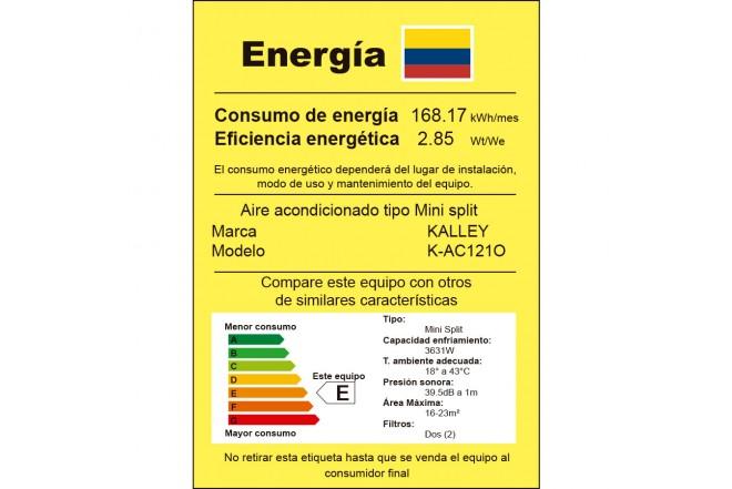 Aire Acondicionado K-AC121O etiqueta RETIQ