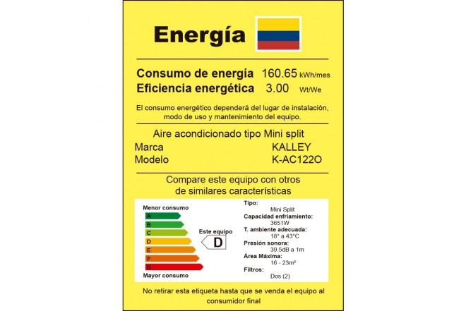 Aire Acondicionado K-AC122O etiqueta RETIQ