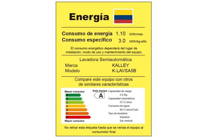 Lavadora KALLEY 5Kg K-LAVSA5B Blanca