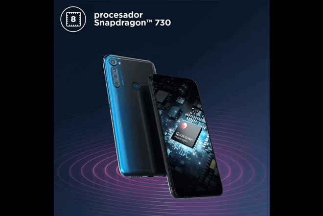 Celular Motorola One Fusion Plus 128GB Azul - Blackout Cloud_6