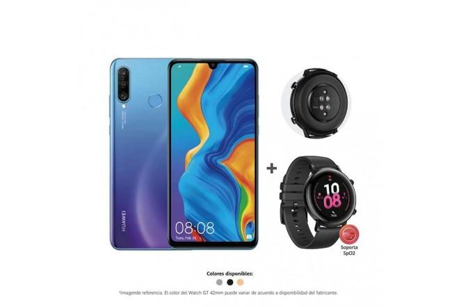 Combo Celular HUAWEI P30 LITE 256GB Azul Morado + Reloj GT2 42mm_1
