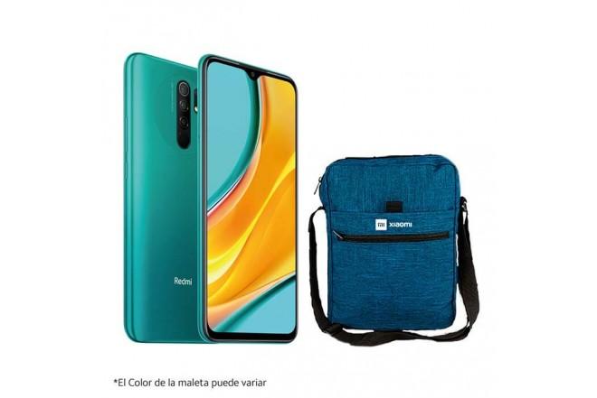 Celular XIAOMI REDMI 9 64GB Verde - Ocean Green + Maleta_1