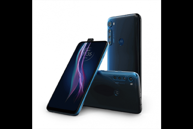 Celular Motorola One Fusion Plus 128GB Azul - Blackout Cloud_5