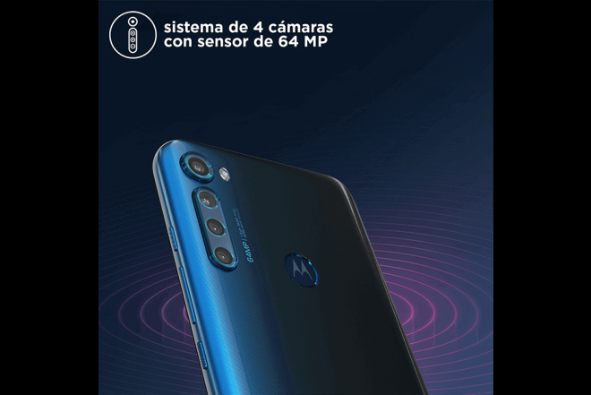 Celular Motorola One Fusion Plus 128GB Azul - Blackout Cloud_10