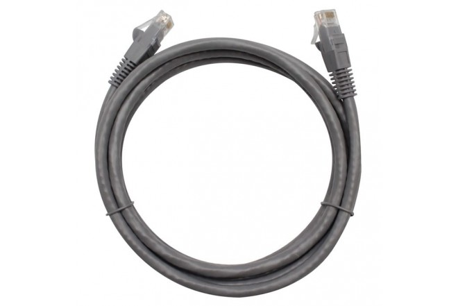Cable CAT6 UTP BESTCOM Patch Cord color Gris 1.83 Mts