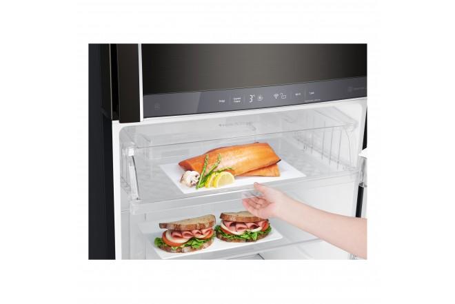 Nevera LG 437 LtLT41AGDXTop Freezer Fabricador de Hielo Negro 4