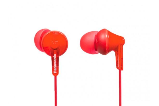 Audífonos PANASONIC Alámbrico InEar HJE125 Rojo