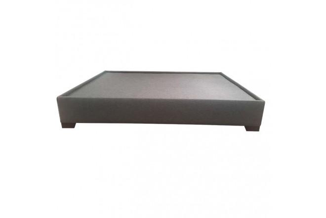 Base Cama Semidoble 124 x 194 x 32 cm TUKASA Tela Borde triada Gris