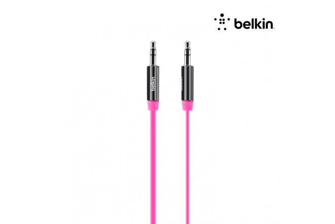 Cable BELKIN Uno/Uno Plano Rosado 90Cm