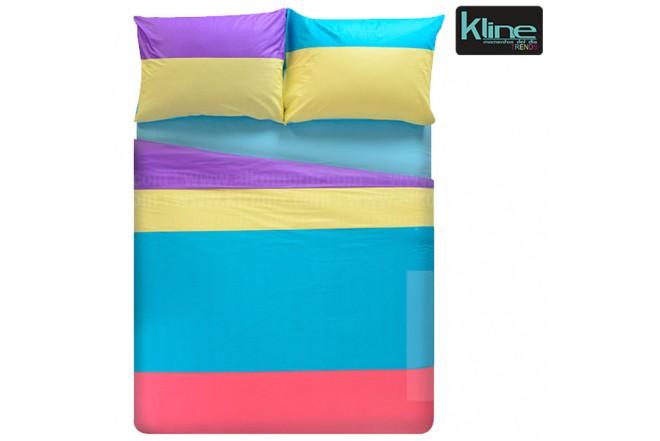 Juego de cama K-LINE estampado bloques semidoble