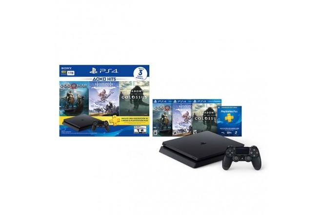 Consola Hits V4 Slim 1TB + 1 Control + 3 juegos + Plus 3 meses