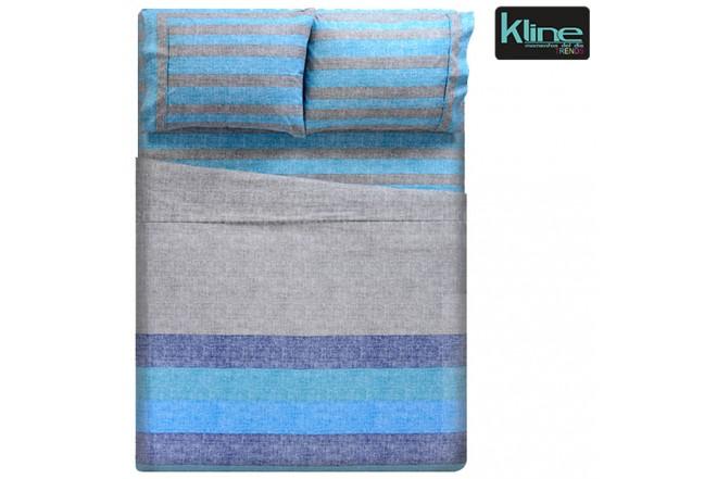Juego de cama K-LINE estampado chambray extradoble