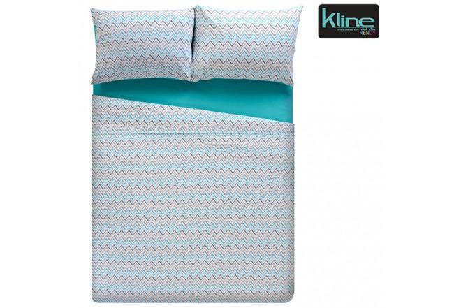 Juego de cama K-LINE estampado chevron sencillo