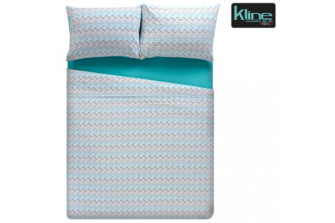 Edredón K-LINE estampado chevron doble