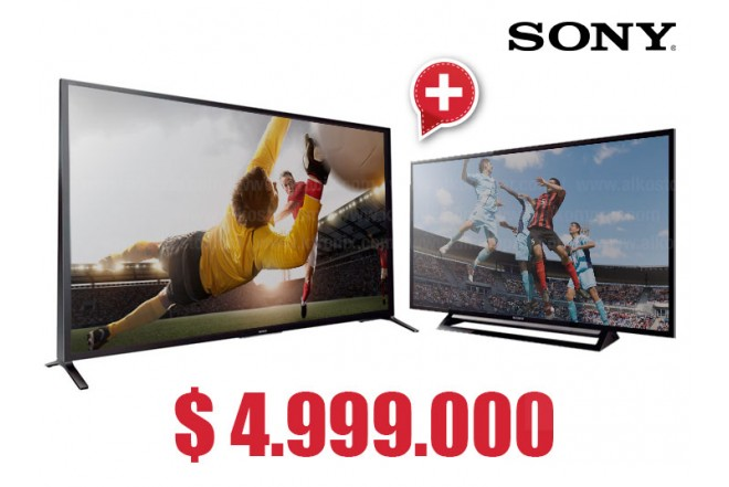 "Compra Tv 70' 176.6 cm LED SONY 70W857INT 3D y  lleva gratis Tv 40"" 101.6 cm LED SONY 40R477B Full HD"