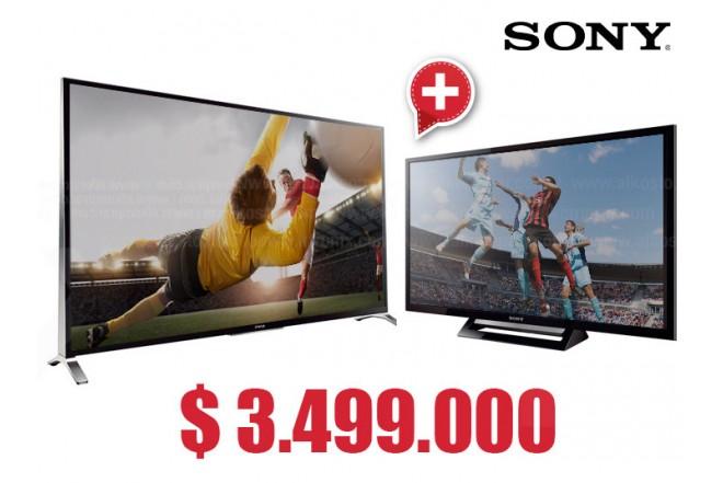 """Compra Tv 55' 138.8 cm LED SONY 55W957B Full HD  y  lleva gratis Tv 32"""" 80 cm LED SONY 32R427B HD"""